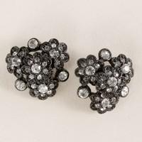 Flower heirloom stud earrings
