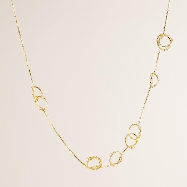 Golden knots necklace