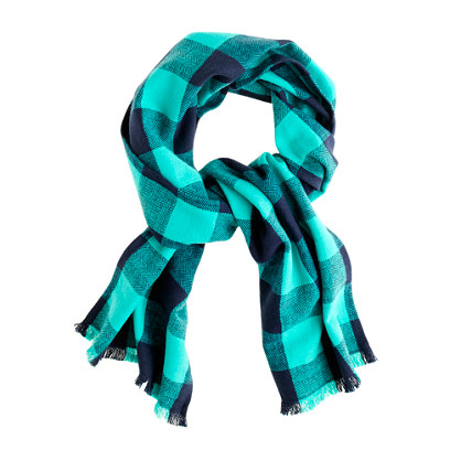 Boys' herringbone buffalo check scarf