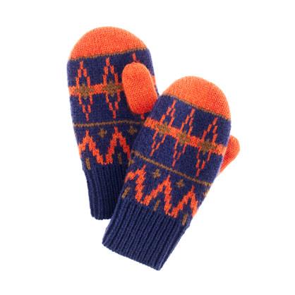 Boys' Fair Isle mittens