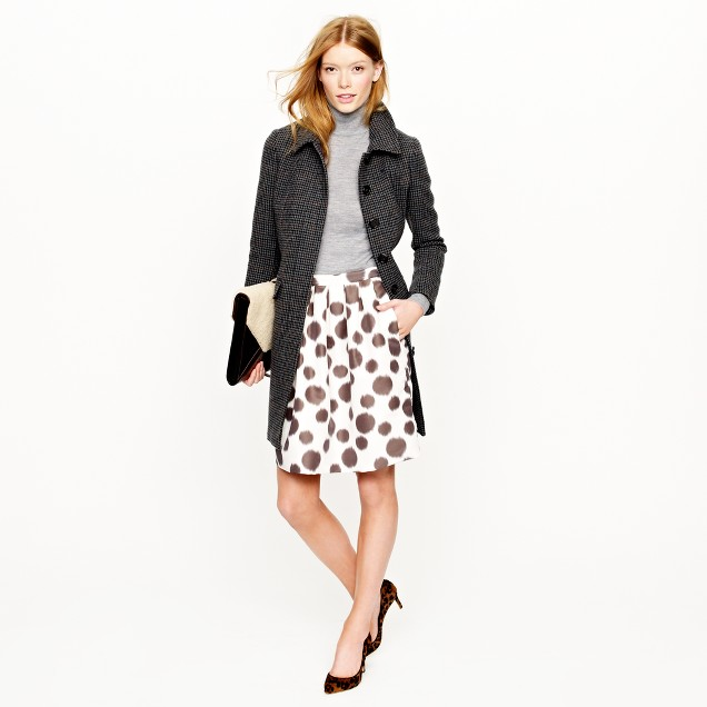 Collection circle skirt in double dot