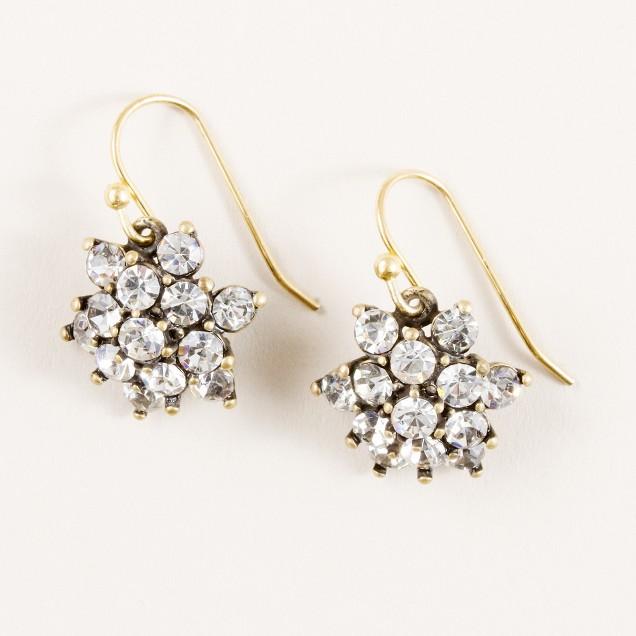 Crystal blossom drop earrings