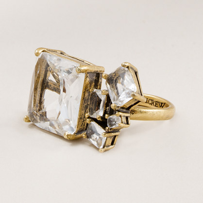 Crystal cluster ring