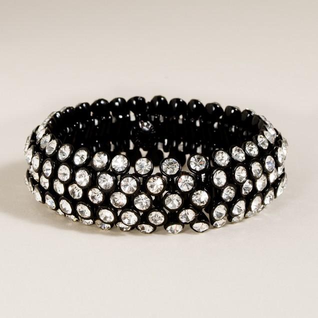 Crystal cobblestone bracelet