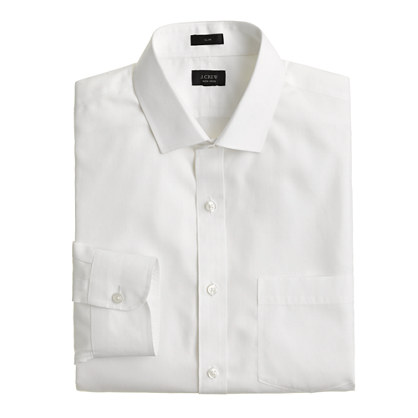 Ludlow Traveler shirt in white