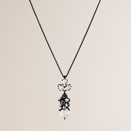 Crystal angel pendant necklace