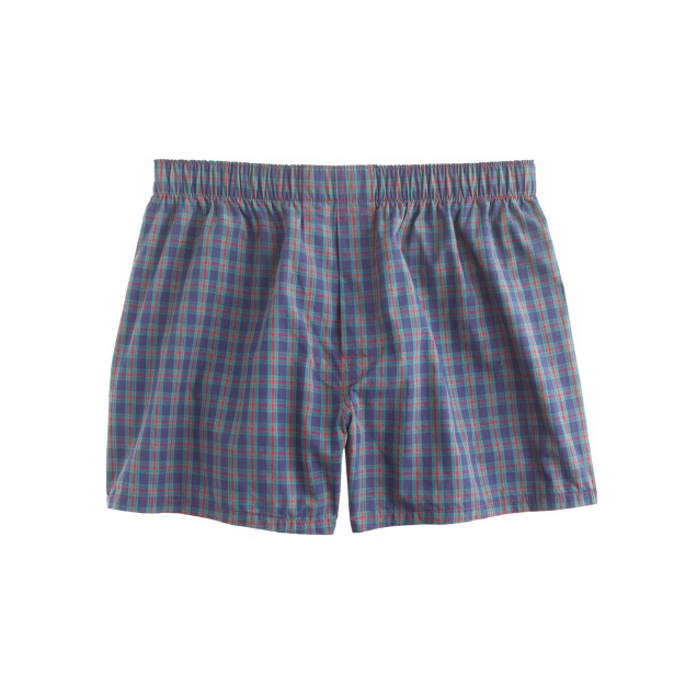 Plaid boxers in navy