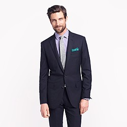Ludlow suit jacket with double vent in Italian wool