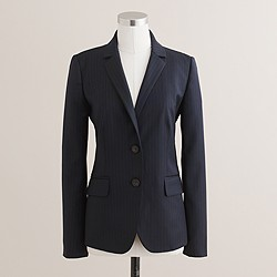 1035 two-button jacket in pinstripe Super 120s wool