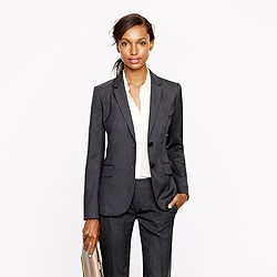 Petite 1035 two-button jacket in pinstripe Super 120s wool