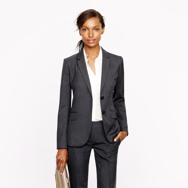 Tall 1035 two-button jacket in pinstripe Super 120s wool