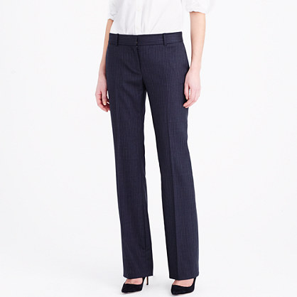Tall 1035 trouser in pinstripe Super 120s wool