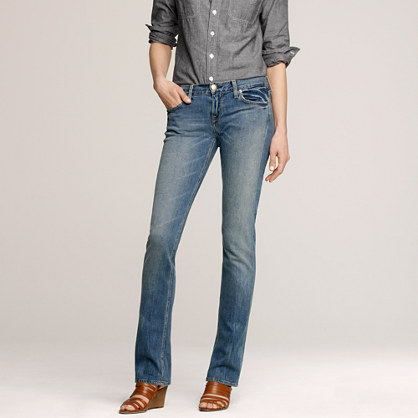 Tall matchstick jean in lived in wash