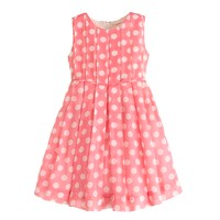 Girls' organdy dot dress