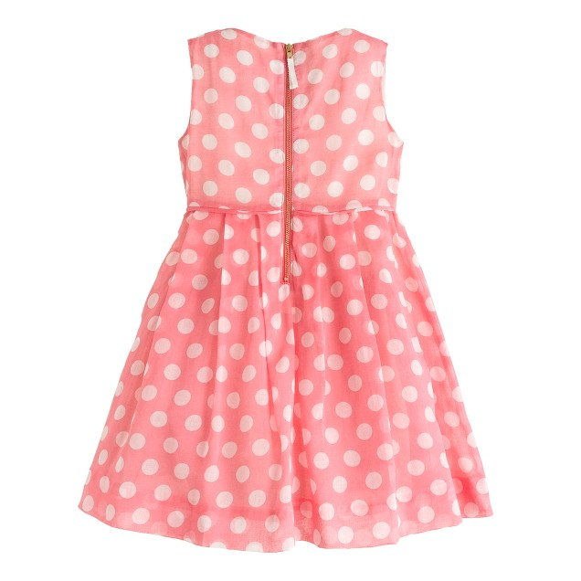 Girls' organdy dot dress
