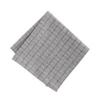 Wool check pocket square