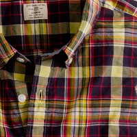 Secret Wash button-down shirt in Everett tartan