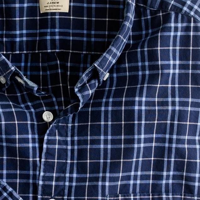 Secret Wash button-down shirt in Goodwin tartan