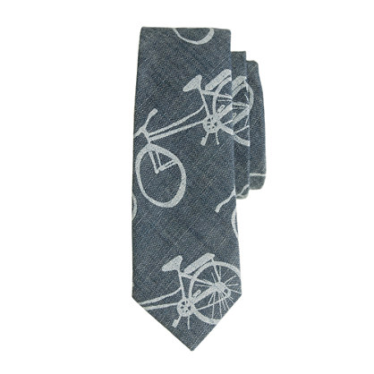 Boys' tie in bicycle print