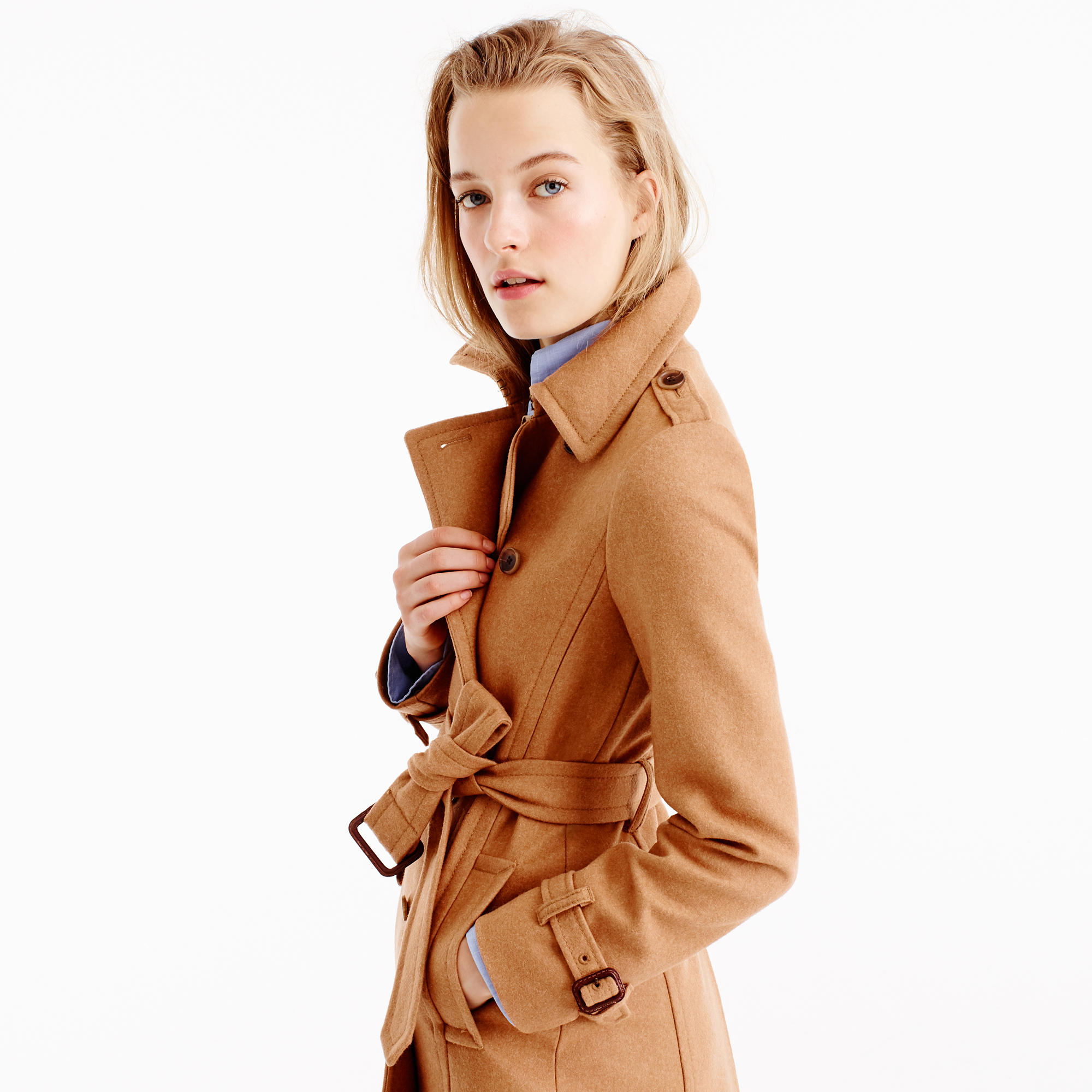 Icon Trench Coat In Wool-Cashmere : Women's Coats & Jackets | J.Crew