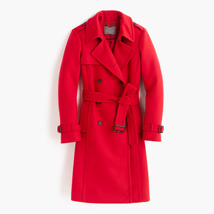 Petite icon trench coat in wool cashmere
