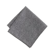 Wool glen plaid pocket square