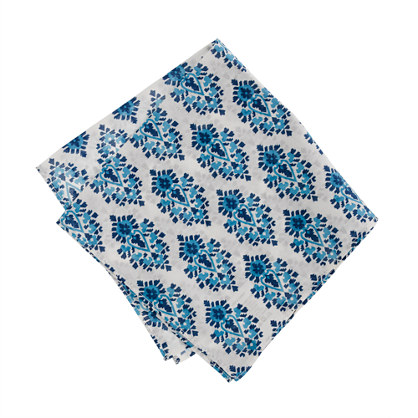 Cotton vintage print pocket square