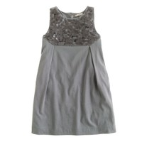 Girls' paillette bib dress