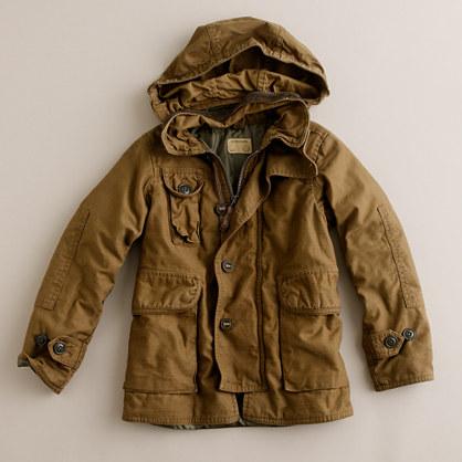 Boys' military utility jacket
