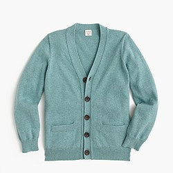Boys' cotton-cashmere cardigan sweater