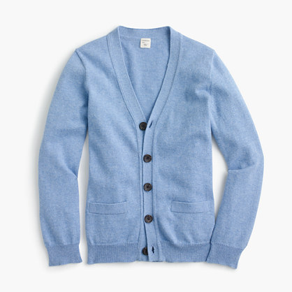 Boys' cotton-cashmere cardigan sweater