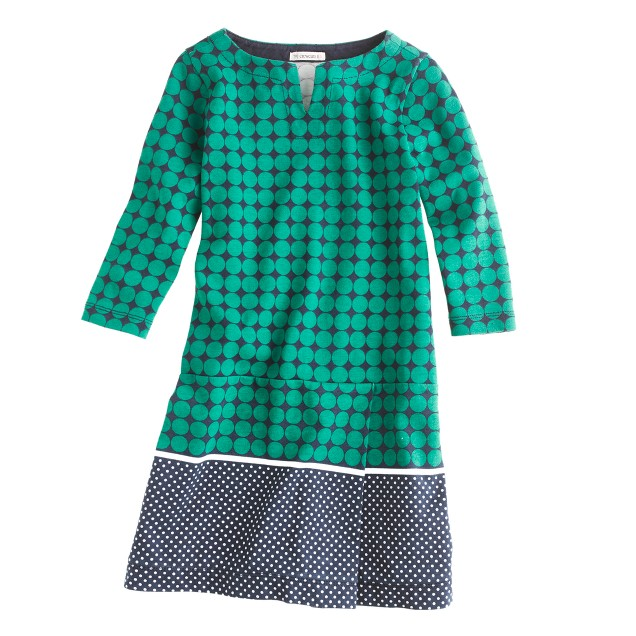 Girls' double-dot dress