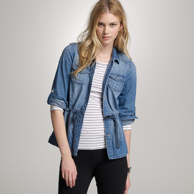 Denim utility shirt-jacket