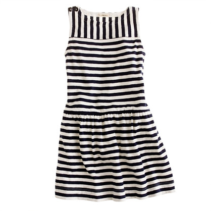 Girls' stripe tank dress