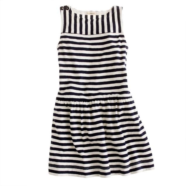 Girls' stripe tank dress