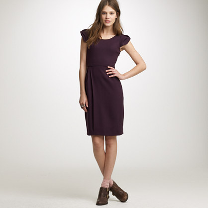 Portfolio dress in wool crepe