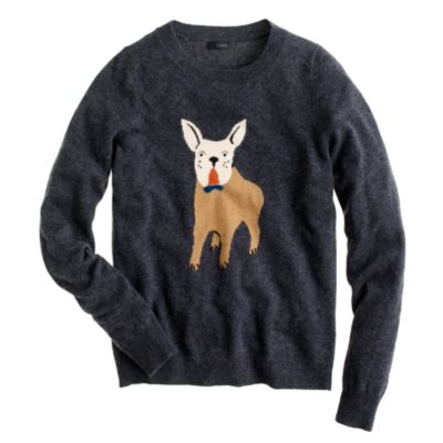 Knitting Patterns For Bulldog Sweaters : Frenchie sweater : J.Crew