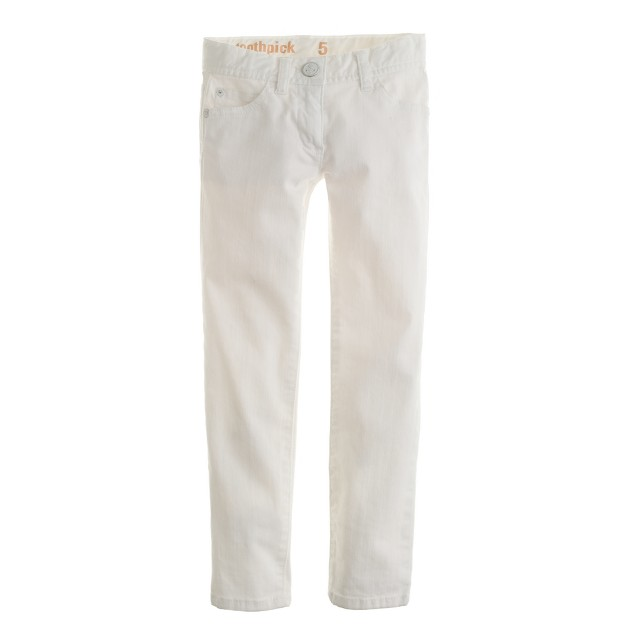 Girls' toothpick jean in white