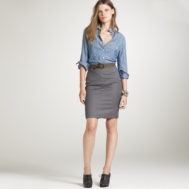 Fallyn skirt in wool flannel