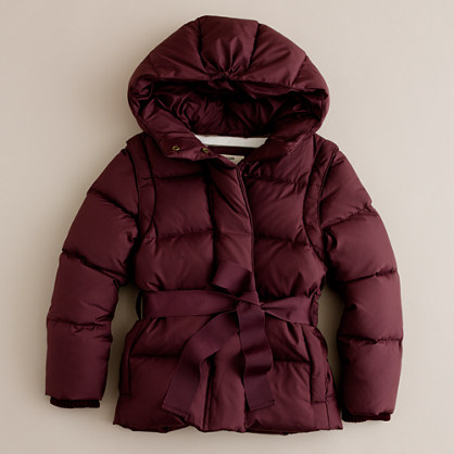 Girls' convertible powder puffer