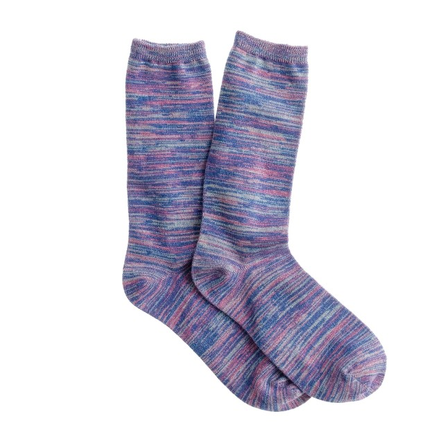 Space-dyed trouser socks
