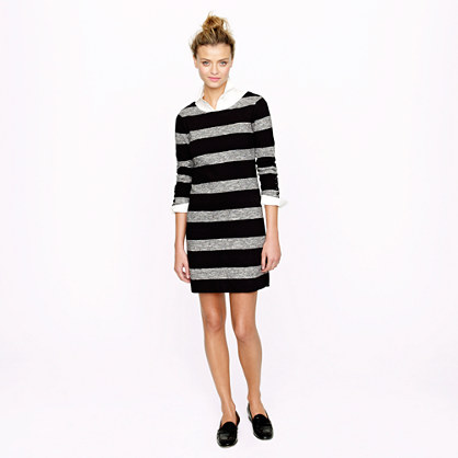 Maritime dress in heathered stripe