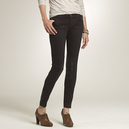 Toothpick riding pant in black