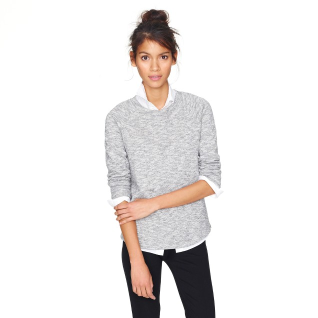 Loomknit sweatshirt in heather
