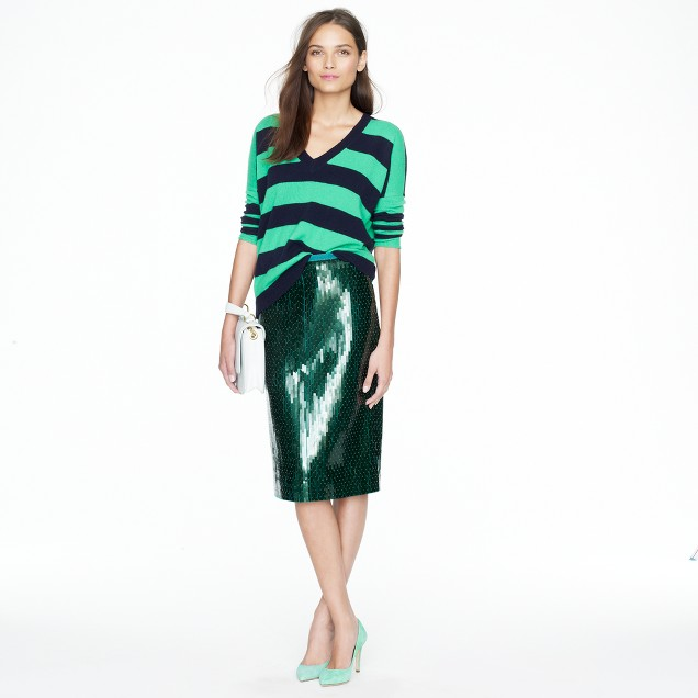 Collection pencil skirt in tile sequin