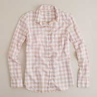 Boy shirt in buffalo check