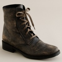 Cracked leather boots