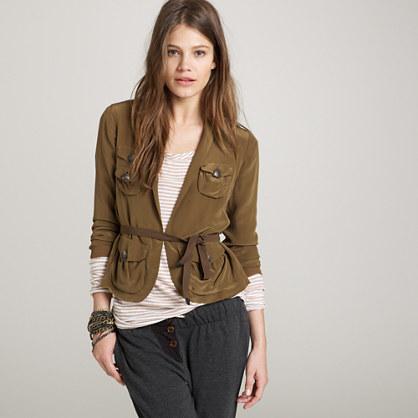 Silk safari blazer