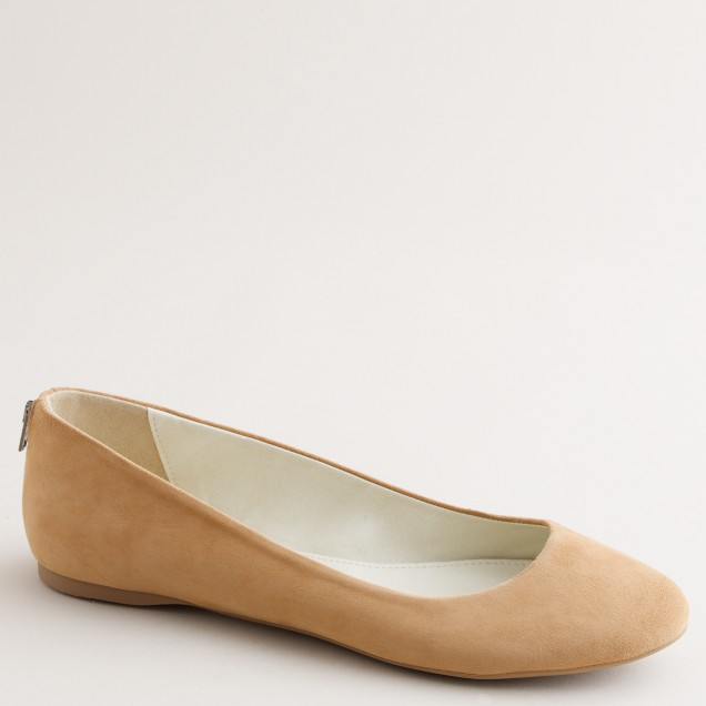 Back-zip ballet flats