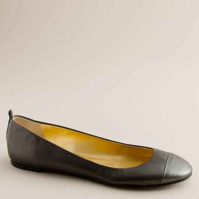 Abby toe cap ballet flats